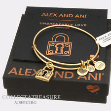 Authentic Alex and Ani Unbreakable Love Rafaelian Gold Expandable Charm Bangle