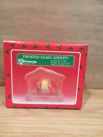 Christmas Around the World Frosted Glass Nativity Tealight Candle Holder