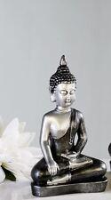 59681 Meditierender Buda de poli antracita / plata limpiado Al. 29cm