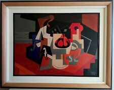 NICE OIL ON CANVAS JUAN GRIS 1918 WITH FRAME IN GOOD CONDITION
