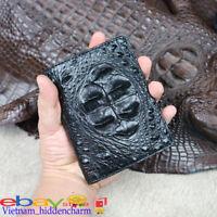 Genuine Crocodile Wallets Skin-DOUBLE SIDE skin - Billfold Men's Handmade
