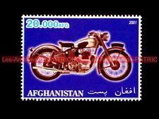 ROYAL ENFIELD 500 Bullet Vintage AFGHANISTAN Timbre Poste Moto Stamp Stempel