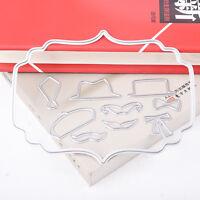Hat Tie Set Metal Cutting Dies Stencil For Scrapbooking Paper Cards Decor Gift
