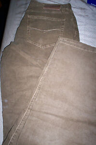 NWT MENS SCOTT BARBER CORDS MADE ITALY CORDUROY PANTS-BROWN-34X34