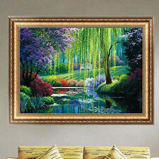 DIY 5D Diamond Embroidery Painting Willow Cross Stitch Home Decor Crafts