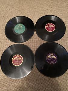 4 Schellackplatten Marschmusik