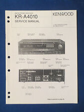 KENWOOD KR-A4010 RECEIVER SERVICE MANUAL ORIGINAL FACTORY ISSUE GOOD CONDITION