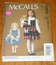 "Mc CALLS Pattern #7010 CHILD & 18"" DOLL MATCHING JUMPERS 2 Styles NEW (2,3,4,5)"