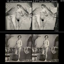 16 artful Stereoviews french Nude 1910 France - Paris (Lot 11)