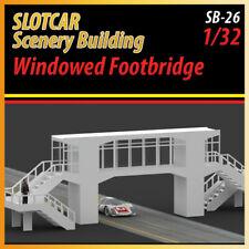 Slotcar Scenery Building Windowed Footbridge for scalextric, carrera track