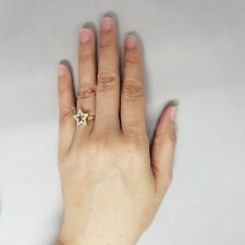 New Pure 22k Yellow Gold Genuine .20Ct. Diamond Ring Diamond Star Size 6.25.