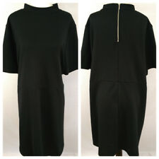 SIMPLY BE Womens Dress Size 22 Black Textured Shift Zip Back Short Sleeve Career