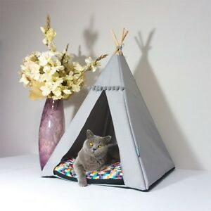 Cat Teepee bed - Pixels, cat bed including pillow*luxury cat house*cat tent