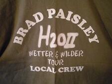 "Brad Paisley 2011 World Tour ""H2O Ii Wetter & Wilder"" Local Crew T-Shirt Xl Tan"