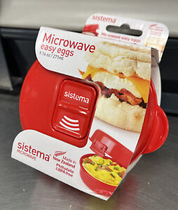 Sistema Microwave Egg Cooker Scramble Omlette Poached Egg Maker Oven Cooking