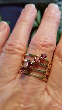 FineArt Jewelry Natural Rhodolite 925 Sterling Silver Ring Size 8.25