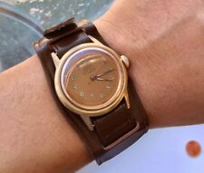 Vintage Roamer Watch Military Style Copper Dial Manual Winding Runs Excellent