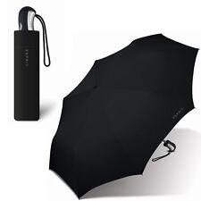 ESPRIT schwarz/black HERREN-REGENSCHIRM umbrella TASCHENSCHRIM auf-zu-automatic