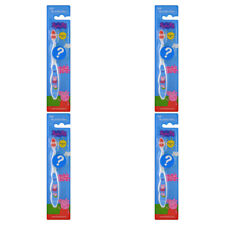 4X BRUSH BUDDIES PEPPA PIG WITH CAP SOFT TOOTHBRUSH DENTAL CARE TEETH PROTECT