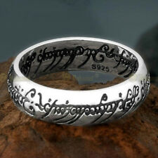 Nice Retro Lord Of The Ring 925 Sterling Silver The one Ring With Chain Size 10