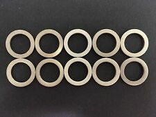 Set of 10 New Mazda Aluminum Oil Drain Plug Gaskets 9956-41-400 *Free Shipping*