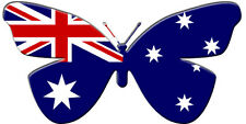 24 X EDIBLE BUTTERFLY CUPCAKE TOPPERS - AUSTRALIA OZ FLAG OLYMPICS RICE PAPER