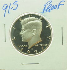 1991 S US Mint Kennedy Half Dollar Proof 50 Cent Coin
