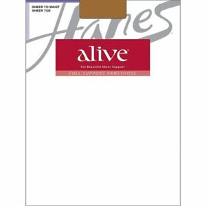 Hanes Women's Alive Sheer to Waist Pantyhose - 4 COLORS - Size A-F