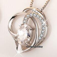 INTENSO Para Ella Plata 925 Cristal Corazón Collar+Cadena Joyería Esposa