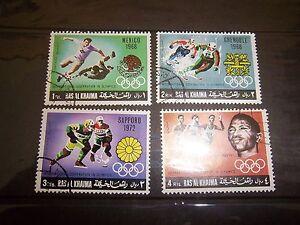 RAS AL KHAIMA - MICHEL 312 - 315 SET / 4  INT'L COOPERATION OLYMPICS 1969 CTO