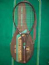 1986 Mitsushiba Trily Graphite TG 747 Racket 4 5/8 14x17 Cover EXCL