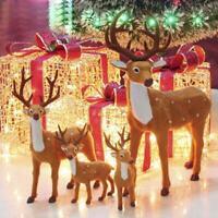Xmas Deer Figurine Doll Reindeer Christmas Party Desk Fun Party Decor AU
