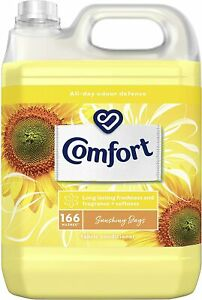 Comfort Fabric Conditioner Sunshiny Days Odour Defence Clothes 5L 166 washes UK