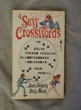#1 Sexy Crosswords Ace 1974 Bill Wenzel cover Paperback original