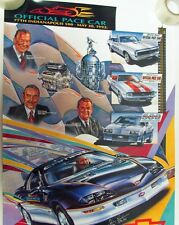 1993 Chevy Camaro Official Indy 500 Pace Car Poster Signed Driver Jim Perkins