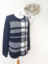 Oui black & cream wool sweater. Size 16. RRP £129