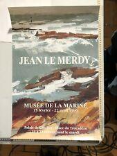 AFFICHE POSTER 1996 JEAN LE MERDY, MUSÉE DE LA MARINE exposition 1996