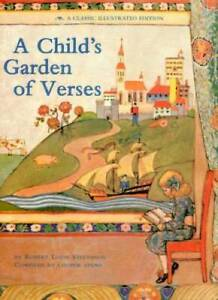 A Child's Garden of Verses: A Classic Illustrated edition - Hardcover - GOOD