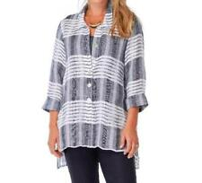 3002885dce5f Linen Island Stripe Droptail Tunic Top by Habitat