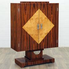 ART DECO COCKTAIL SCHRANK ca.140x100cm, MACASSAR EBONY CABINET - KABINETSCHRANK
