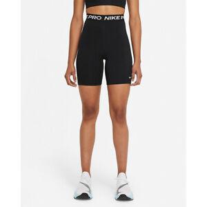 Nike Pro 365 Women's High-Rise Shorts-Black/White 18cm(approx)