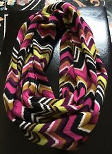 MISSONI For TARGET Zig Zag Chevron Infinity Scarf Wool Blend.   NWOT