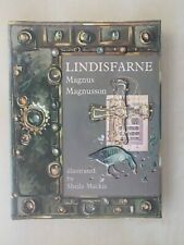 LINDISFARNE THE CRADLE ISLAND MAGNUS MAGNUSSON signed by author and illustrator