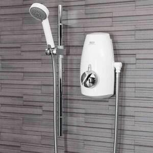 Aqualisa Aquastream Power Shower Thermostatic White & Chrome 4 Spray 813.40.21
