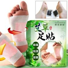 New 10pcs-Care Wormwood Foot Pads Detoxifying Detox Paste Patch Chinese Med L0Z0