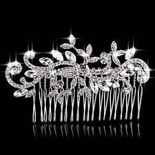 Bridal Wedding Flower Crystal Rhinestone Hair Clip Comb Pin Headband Elegant Bid
