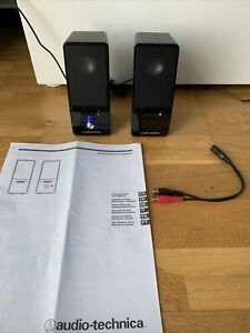 Audio-Technica AT-SP121 Speakers In MINT CONDITION *WORKS PERFECTLY* WITH MANUAL