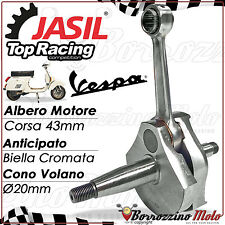 ALBERO MOTORE JASIL TOP RACING ANTICIPATO CONO 20mm PER VESPA PK 50 XL RUSH N HP
