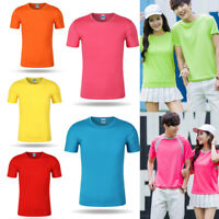 Men Women Quick Dry T-Shirt Training Sport Casual Short Sleeve Tee Tops S-3XL