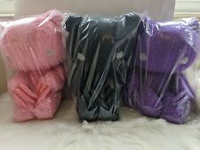 More details for uk chax gp gloomy bear abstraction plush 38cm pink black purple taito japan new